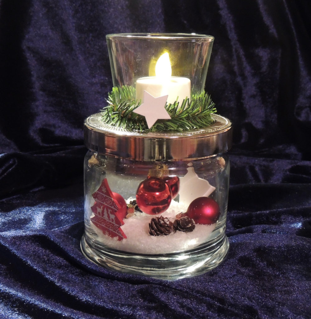 Windlichtglas Weihnachten